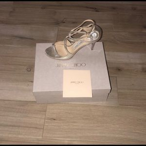 Jimmy Choo Silver Dress Heel Sz. 39.5